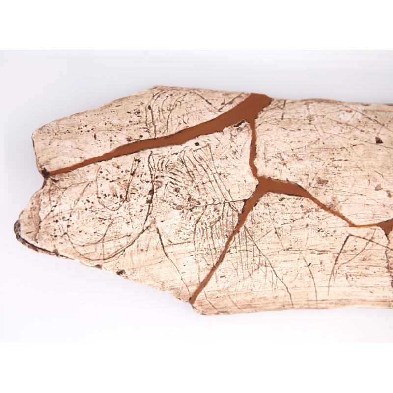 Plaquette gravée d'un mammouth, Magdalénien, Grotte de la Madeleine